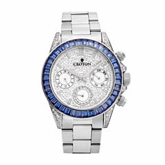 Croton Womens Silver Tone Bracelet Watch-Cn307565ssbl