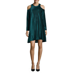 a.n.a Long Sleeve Swing Dresses