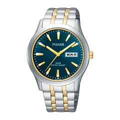 Pulsar® Mens Two-Tone Stainless Steel Watch PXN197X