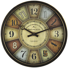FirsTime® Color Wheel Clock