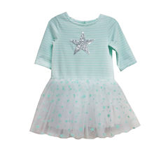 Marmellata 3/4 Sleeve Mint Tutu Dress - Toddler