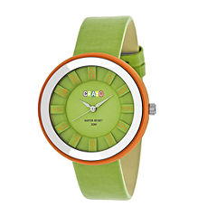 Crayo Unisex Green Strap Watch-Cracr3404