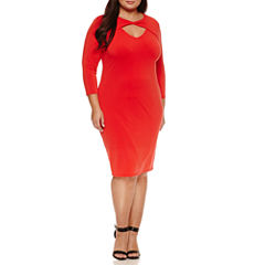 Belle + Sky 3/4 Sleeve Bodycon Dress