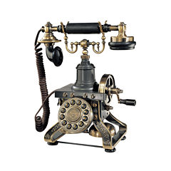 Paramount Eiffel Tower 1892 Reproduction Phone - Black