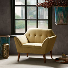 INK+IVY Newport Tufted Fabric Club Chair