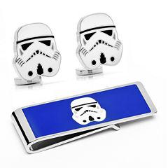 Star Wars® Storm Trooper Cuff Links & Money Clip Gift Set