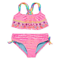 Breaking Waves Girls Bikini Set - Big Kid