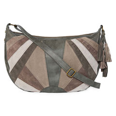T-Shirt & Jeans Patchwork Hobo Bag