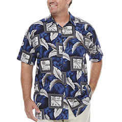 The Foundry Big & Tall Supply Co. Short Sleeve Button-Front Shirt-Big and Tall