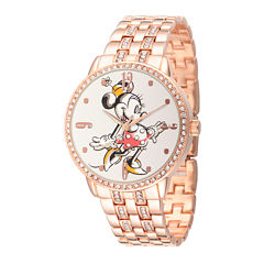 Disney Minnie Mouse Womens Rose Gold-Tone Bracelet Watch