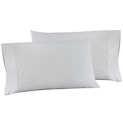 IZOD® Gray Ticking Stripe Set of 2 Pillowcases