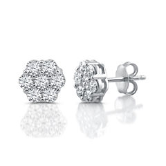 Diamond Blossom 1 CT. T.W. Round White Diamond 10K Gold Stud Earrings