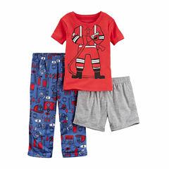 Carter'S Boys Shortsleeve 3Pc Poly Sleep Set
