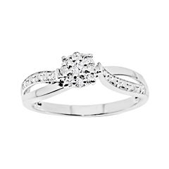 1/6 CT. T.W. Diamond Sterling Silver Promise Ring