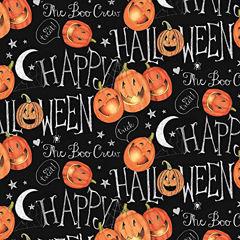 Halloween Boo Crew Pumpkins Fabric