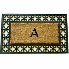 Monogram Cross Rectangle Doormat - 18