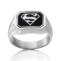 DC Comics® Stainless Steel Dad/Superman Reversible Ring