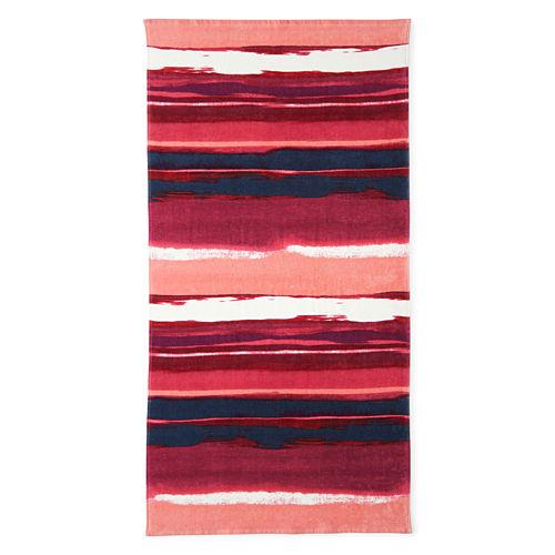 Outdoor Oasis Sunset Stripe 30x60 Printed Beach Towel