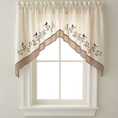 Birds Rod-Pocket Swag Valance Pair