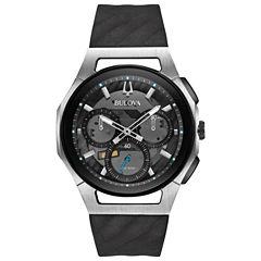 Bulova Curv Mens Black Strap Watch-98a161