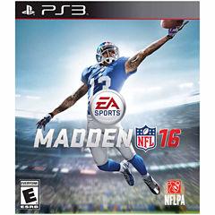 Madden Nfl 16 Video Game-Playstation 3