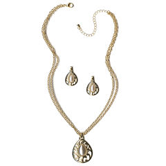 Mixit Womens 2-pc. White Jewelry Set