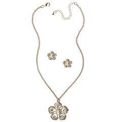 Mixit Womens 2-pc. White Jewelry Set