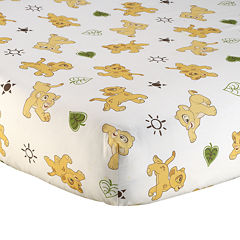 Disney The Lion King Go Wild Fitted Crib Sheet