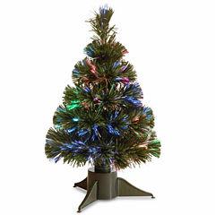 National Tree Co. Fiber Optic Ice Pre-Lit Christmas Tree