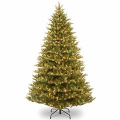 National Tree Co. 7 1/2 Foot Normandy Fir Hinged Pre-Lit Christmas Tree