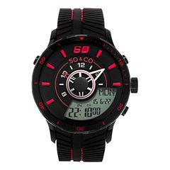 So & Co Mens Black Strap Watch-Jp15519