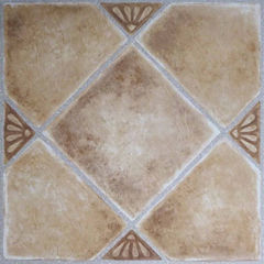 Nexus Beige Clay Diamond With Accents 12x12 Self Adhesive Vinyl Floor Tile - 20 Tiles/20 Sq Ft.