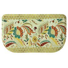 Bacova Guild Boho Floral Wedge Kitchen Mat