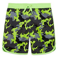 Arizona Boys Camouflage Swim Trunks-Toddler