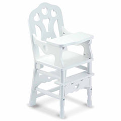 Melissa & Doug® Wooden Doll High Chair