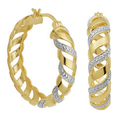 Diamond-Accent San Marco Hoop Earrings