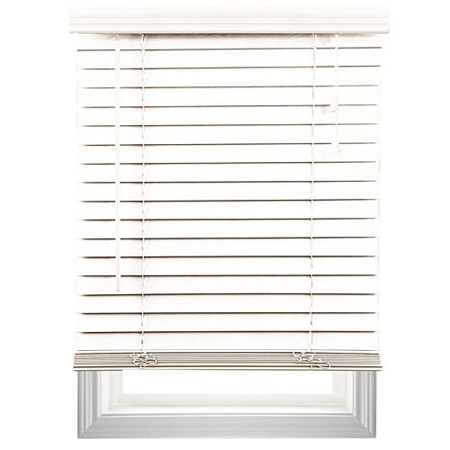 Cut-to-Width 2 Textured Faux-Wood Blinds