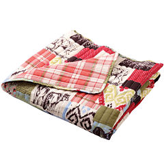 Greenland Home Fashions Rustic Lodge Quilted Cotton Throw