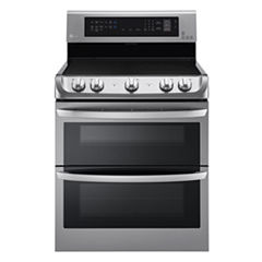 LG 7.3 cu. ft.  Freestanding Electric Double OvenRange with ProBake Convection EasyClean® and UltraHeat Element