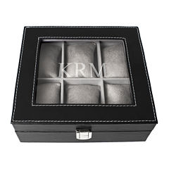 Personalized Faux-Leather Watch Box
