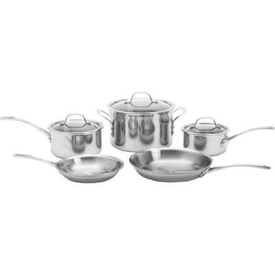 calphalon triply 8pc stainless steel cookware set - Calphalon Tri Ply Stainless Steel