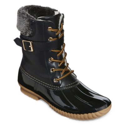henry ferrera mission 400 buckle accent duck boots - Duck Rain Boots
