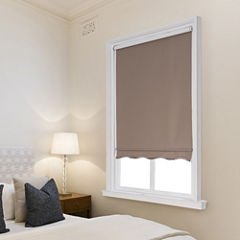 JCPenney Home Charlotte Cut-to-Width Fringed Cordless Thermal Roller Shade