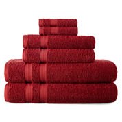 Red Bath Towels For Bed Amp Bath Jcpenney
