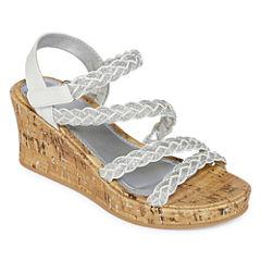 Arizona Jubilee Girls Wedge Sandals - Little Kids