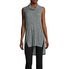 Worthington Short Sleeve Eddition Turtle Neck Tunic Top