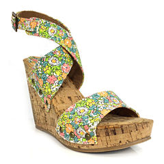 Groove Ariana Wedge Sandals