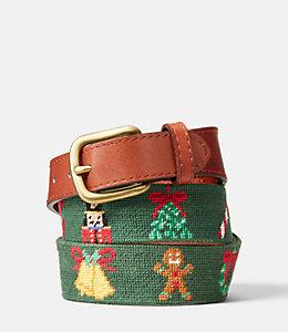Needlepoint Christmas Belt