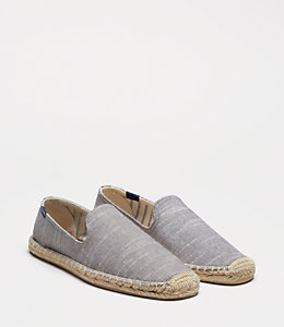 Jack Spade X Soludos® Striped Linen Smoking Slipper