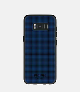 Samsung Galaxy S8 Graph Check Printed Clear Case
